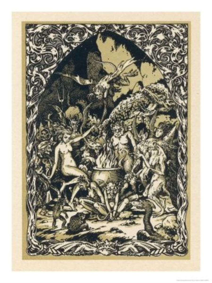 Guillemette Babin and her fellow witches naked are carried. Bernard Zuber