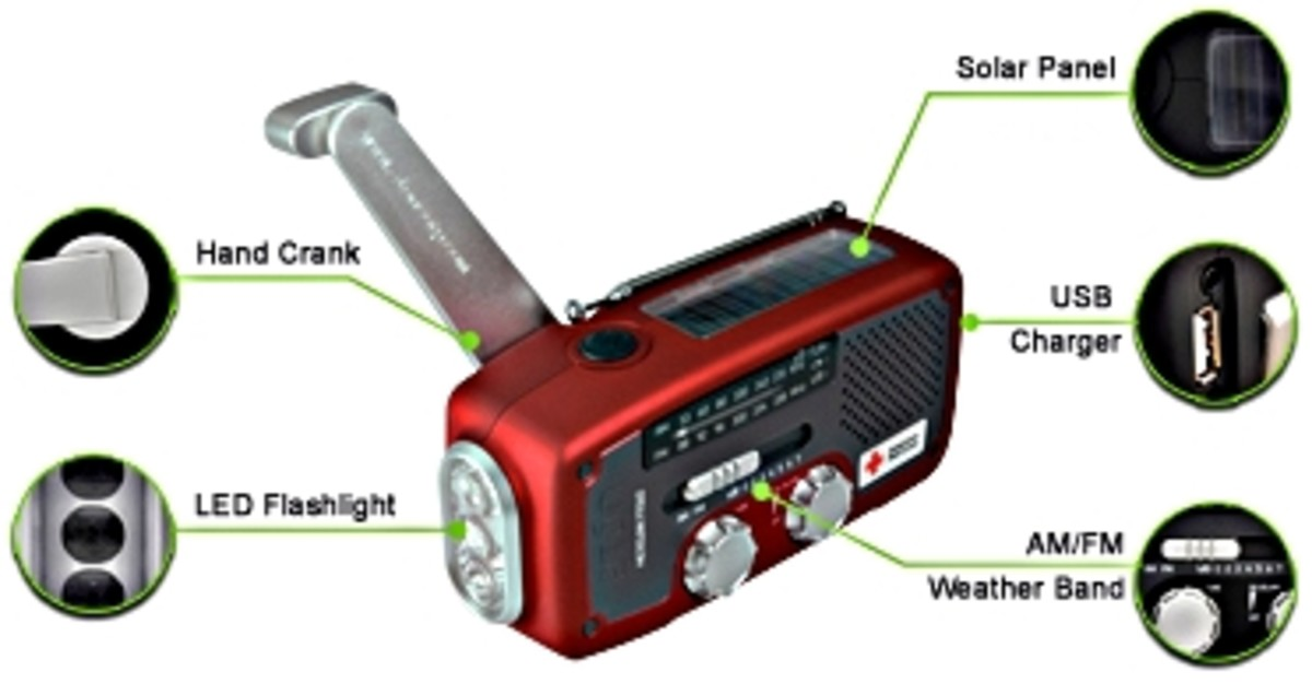 Solar Power Radio/Flashlight/USB Phone Charger - 2013 Best Gifts for Men: Cool Gadgets Gift Ideas, by Rosie2010