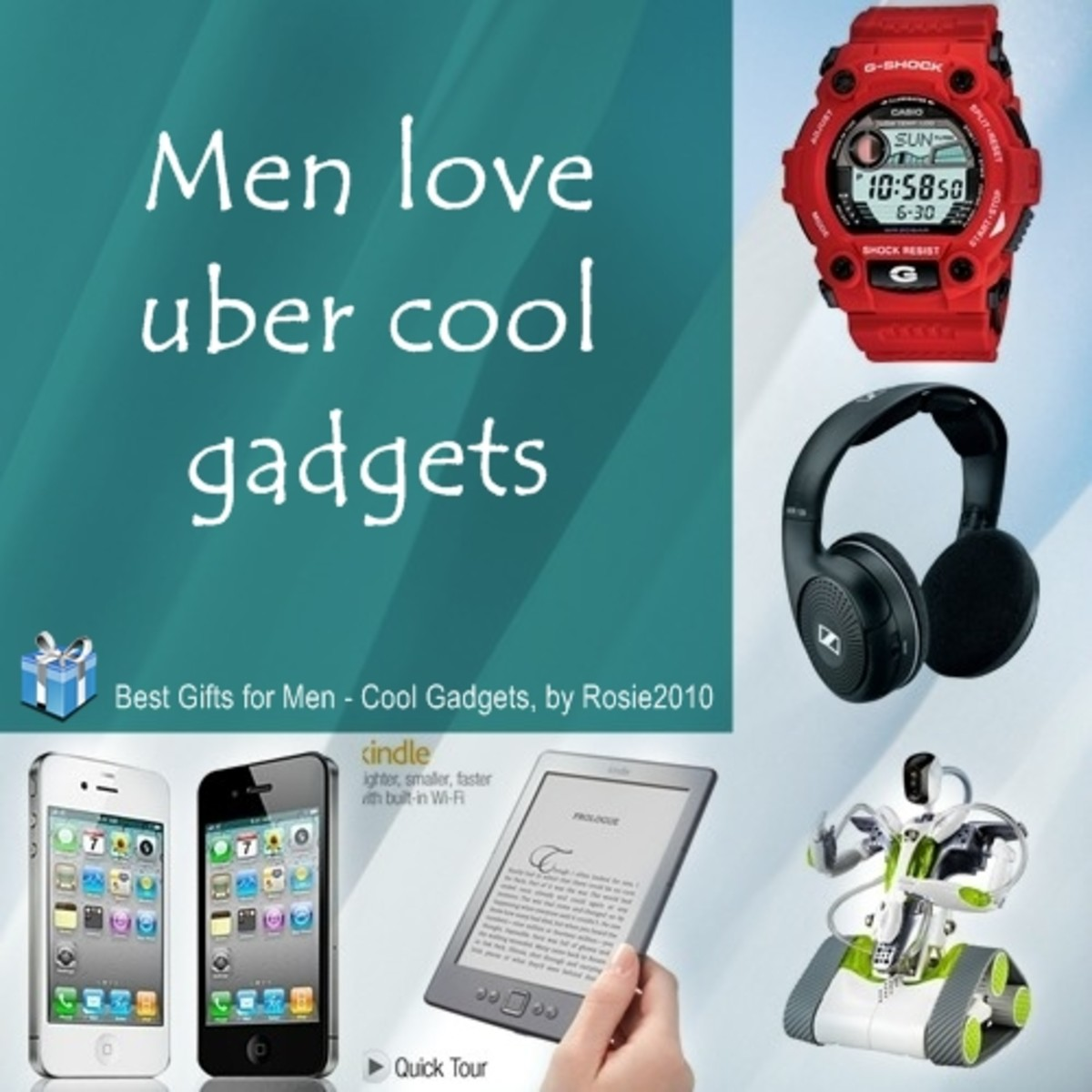 2014 Best Gifts for Men: Cool Gadgets Gift Ideas, by Rosie2010, product photos from Amazon.com, photo collage by Rosie2010