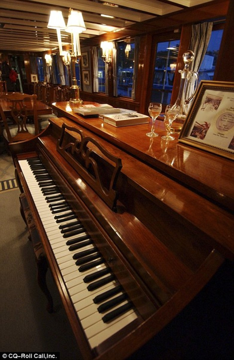 President Richard Nixon entertained family and guests on board the Sequoia by playing the piano. On the night that Nixon announced to his family that he was going to resign from the presidency, he sat alone and played the piano before he told them.