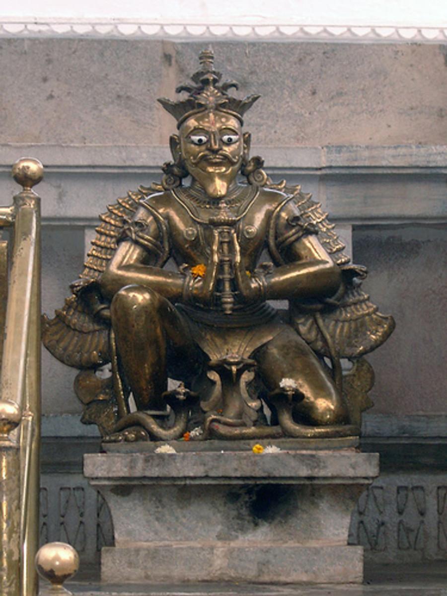 Brass Image of Garuda, Jagdish Mandir, Udaipur.