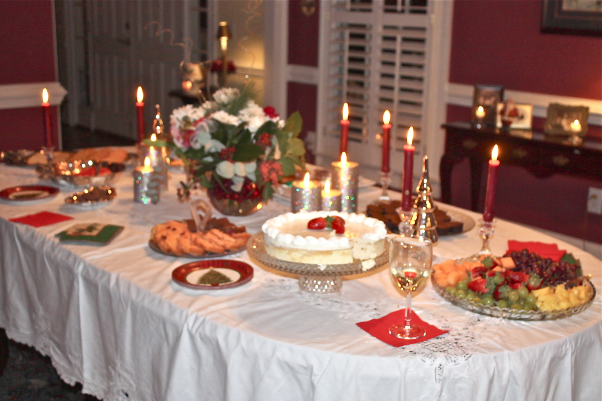 A christmas theme Bridal Shower