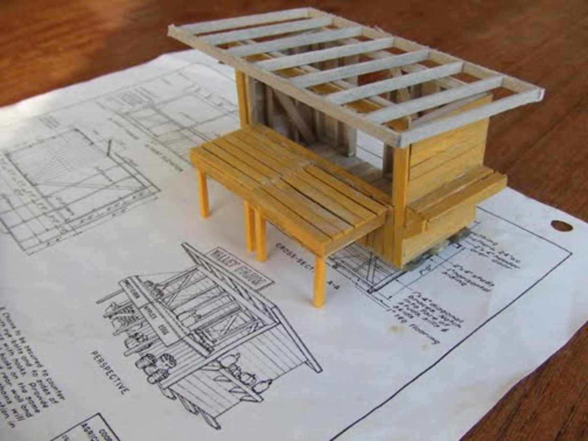 Roof and fold down counter.