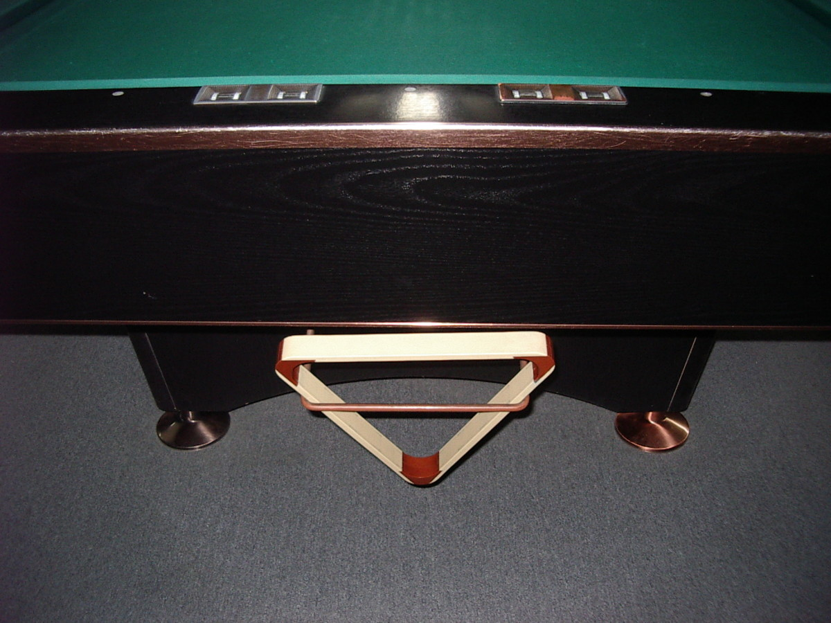 The Rack - nestling under the foot of the table