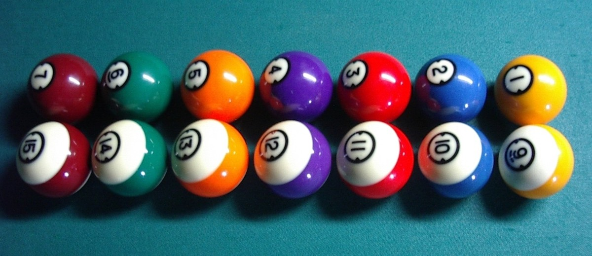 All the Colours and Stripes - minus the cue ball and the 8-ball.