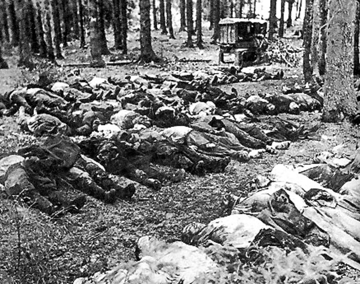Ponary near Wilno (Vilna)/Vilnius, Lithuania, Jewish victims of execution before the mass burial, 1943.