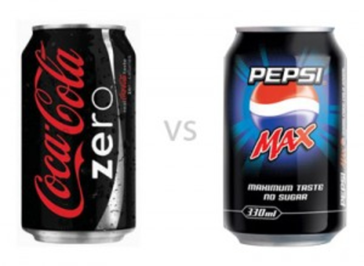 Pepsi diet vs Coca Cola zero
