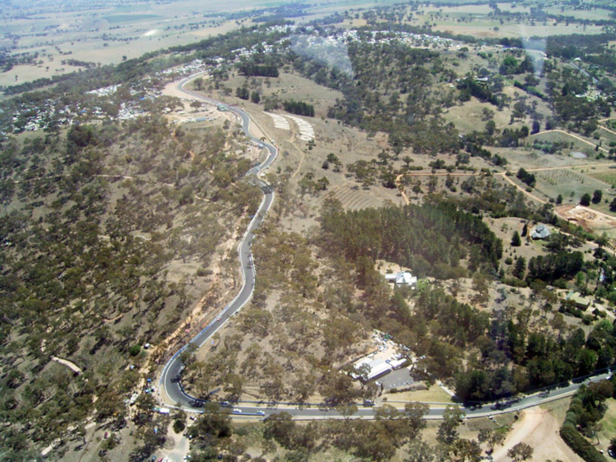 Forest Elbow terrifying corner to take a high speed. You can see why it is called Mount Panorama