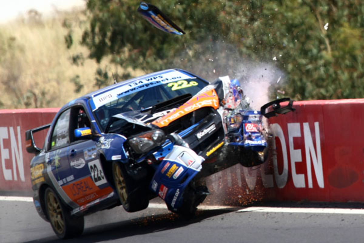 One of the unlucky drivers at Bathurst 1000, Oh well just another day at the Office .