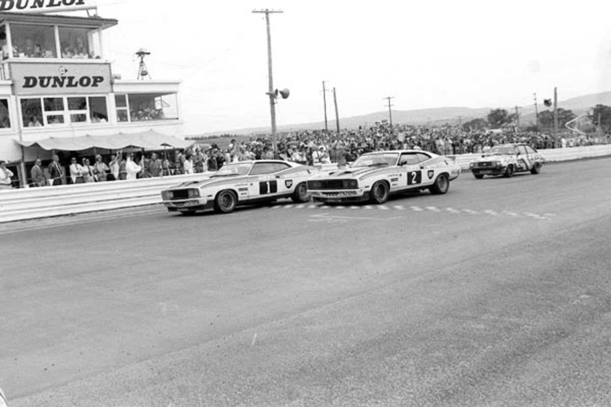 In 1977 the first 1-2 set up a great future for the Ford Falcon.  Win on the weekend sell on Monday