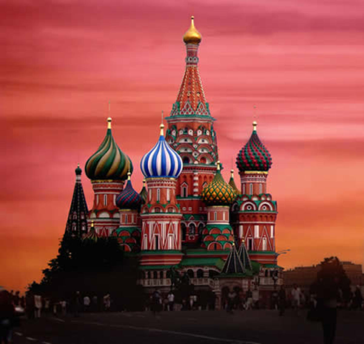 St. Basilica Cathedral  - Church of colored Red Square - Russia
