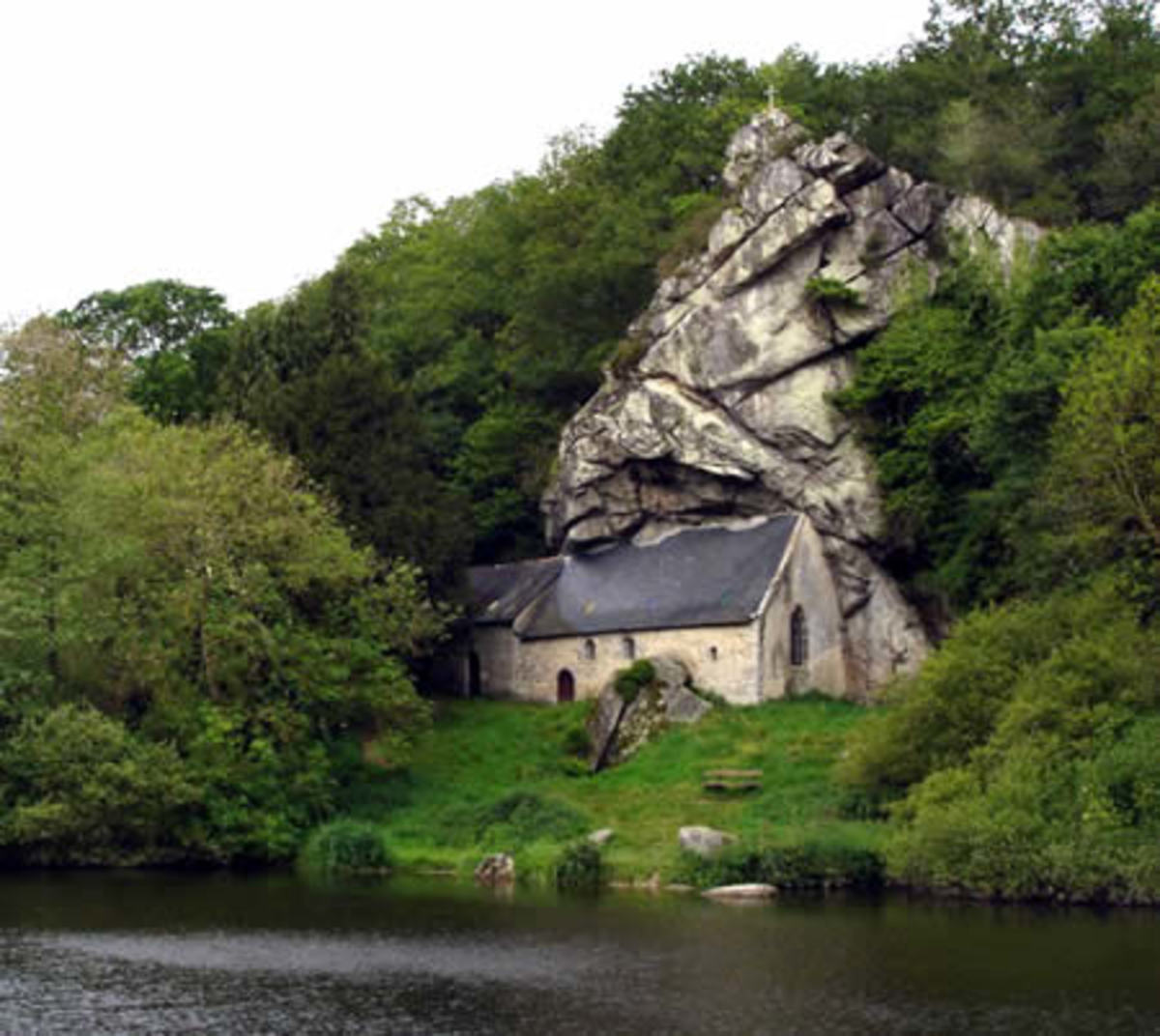 St Ghildas Chapel -  Built at the base of a stone cliff