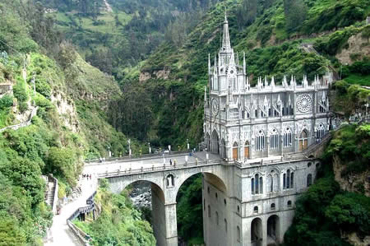 Las Lajas Cathedral: A Gothic cathedral s like stolen from the fairy tale.