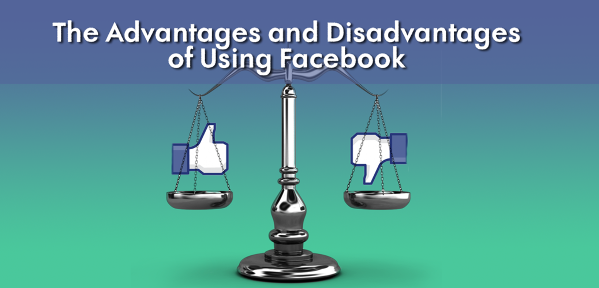 The advantages and disadvantages of using Facebook.
