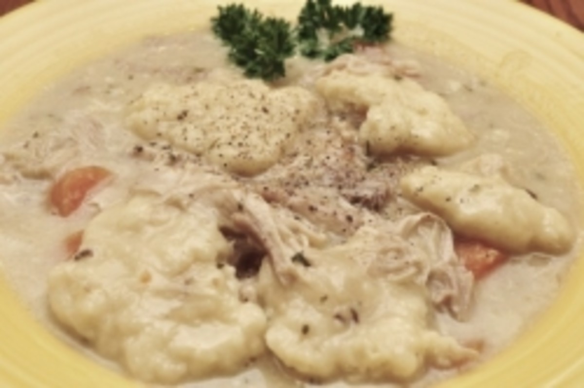 Chicken and Dumplins on plate