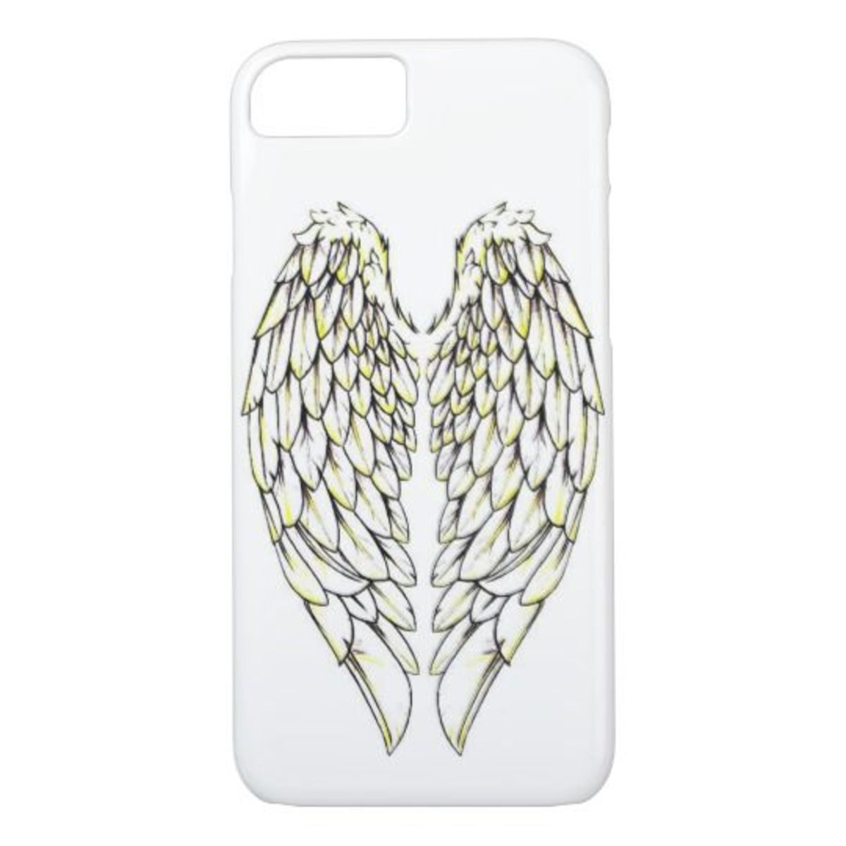 Angel wings decorate this phone case