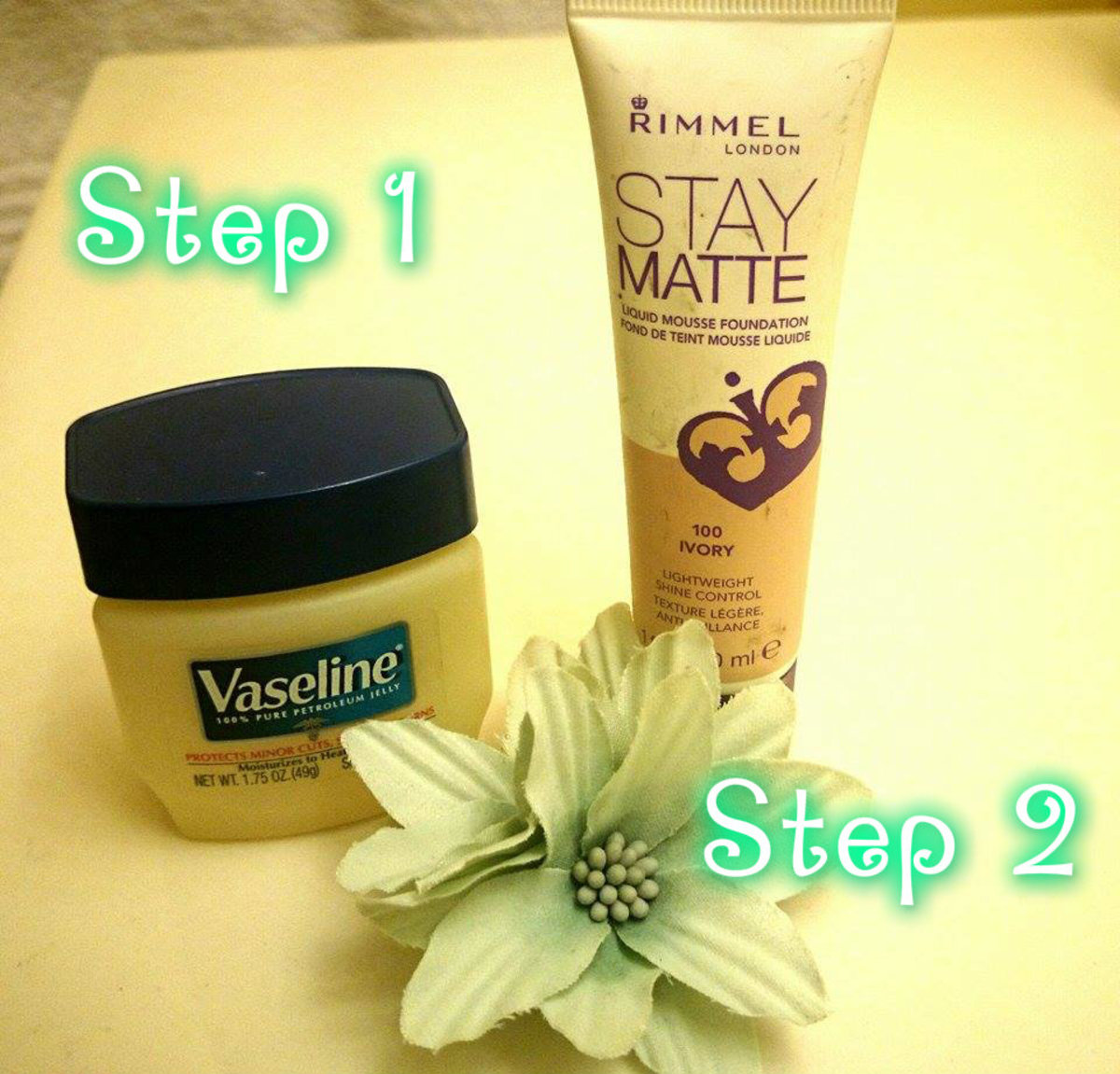 Apply Vaseline before foundation as a primer to smooth the look of pores