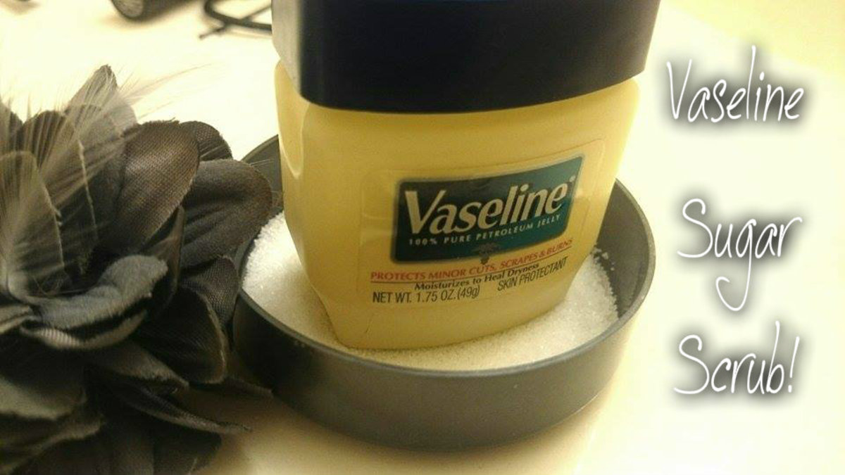 Simple and easy to do! Mix Vaseline and with some sugar and scrub all over for a DIY exfoliator.