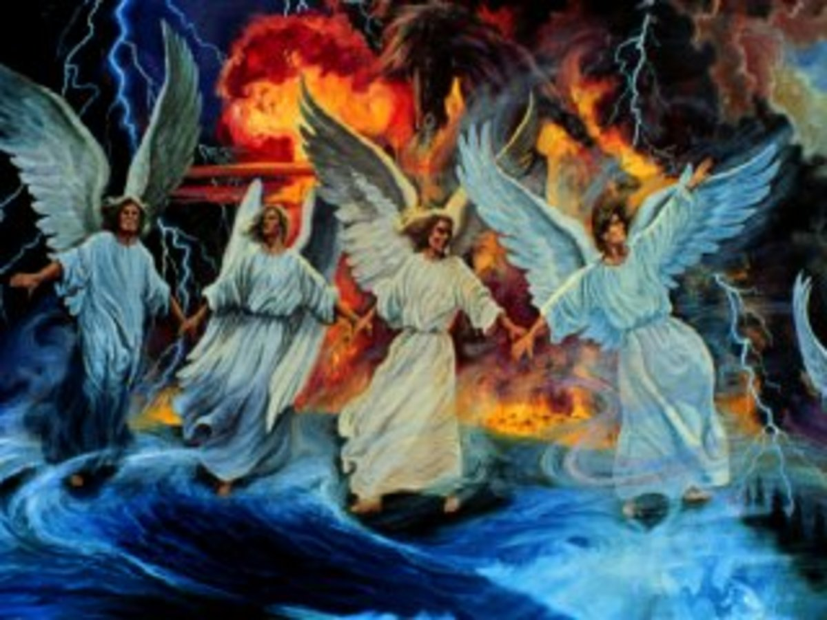 Angels obeying God and doing His will!