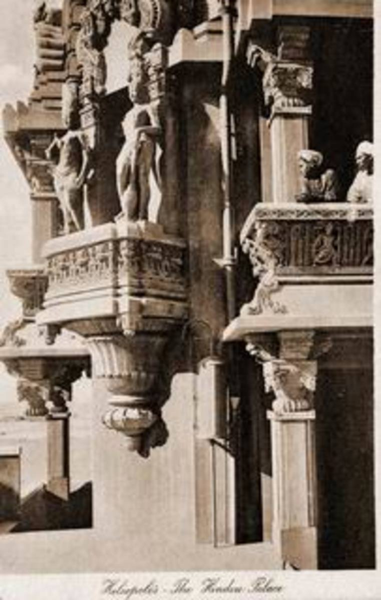 One of the balconies of Baron Empain's Palace