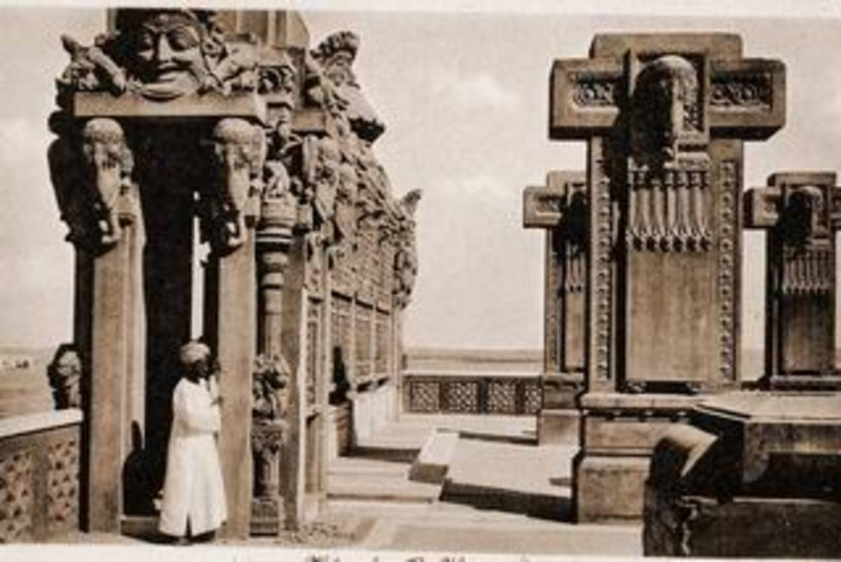 Open Terrace of Baron Empain's Palace in Egypt