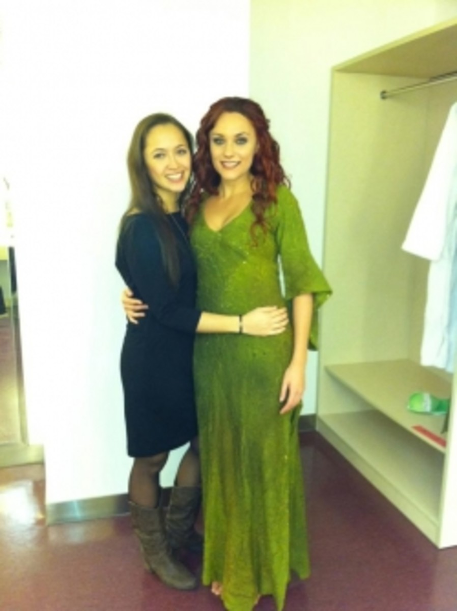 Myriam Brousseau as Esmeralda with Candice Parise