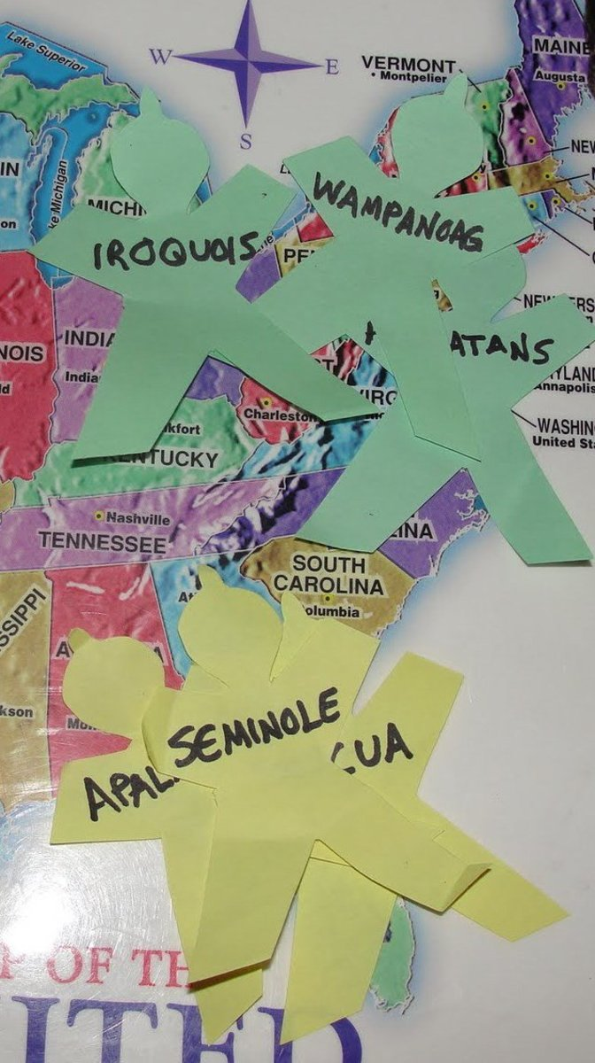 Placing the tribes on the map of the US
