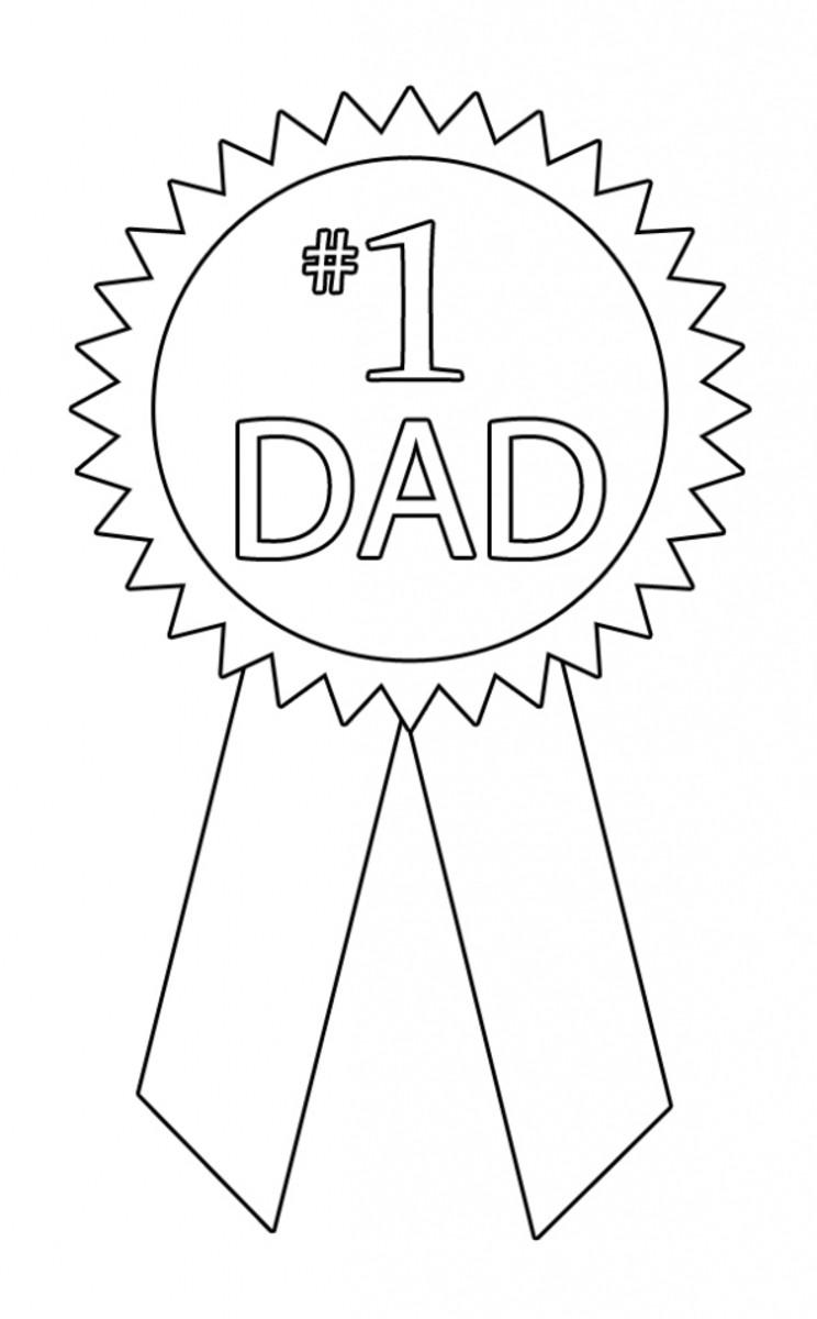 #1 Dad Award - Printable Coloring Image