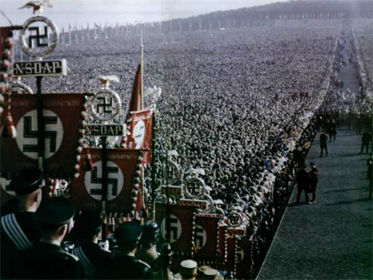 "Hitler sensed and felt that as a politician he was more popular when he became the ""high priest"" of a new rite, enabled by the radio and speakers, who seduced the crowds and mesmerized them by the brilliance of idol worship."