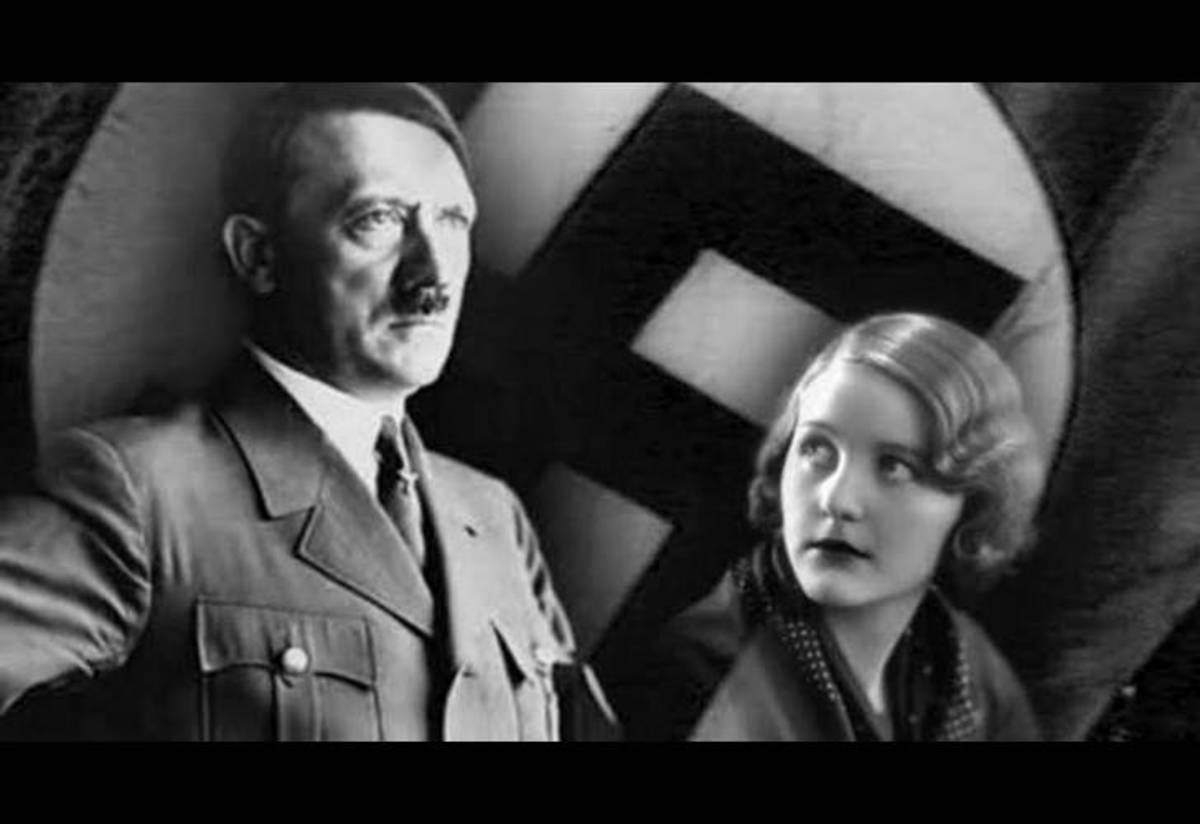Adolph Hitler and Eva Braun