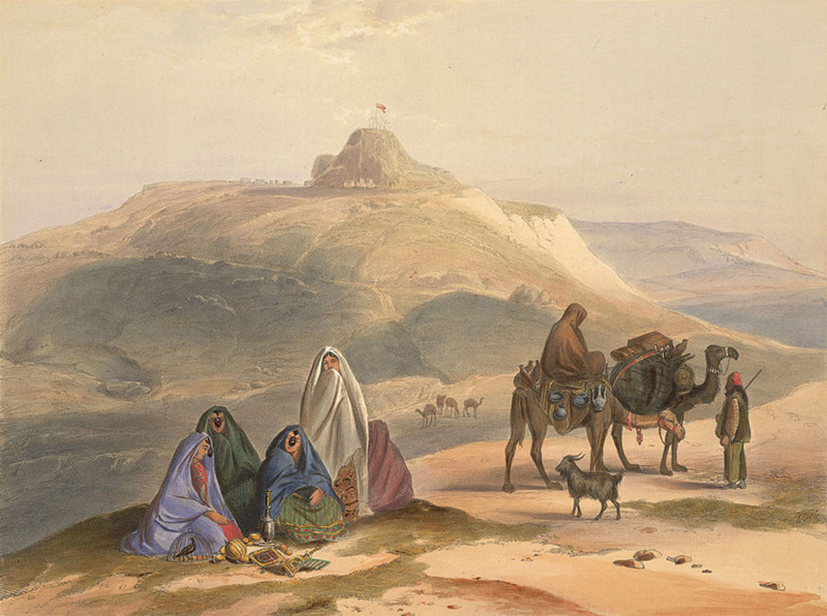 An 1848 Lithograph showing Ghilzai nomads in Afghanistan. source Wikipedia - History of Yogurt, Yoghurt, Yogourt or Yoghourt