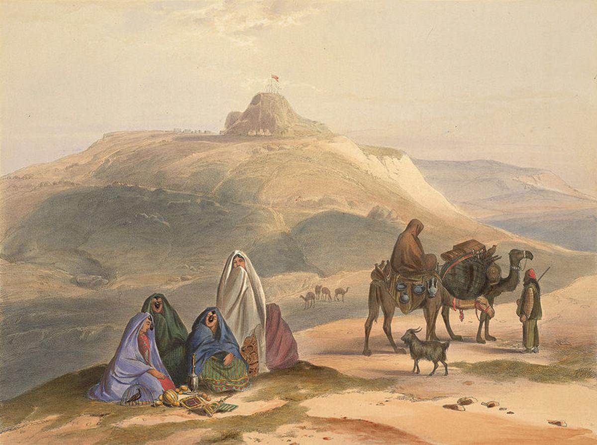 An 1848 Lithograph showing Ghilzai nomads in Afghanistan. source Wikipedia - History of Yogurt, Yoghurt, Yogourt or Yoghourt
