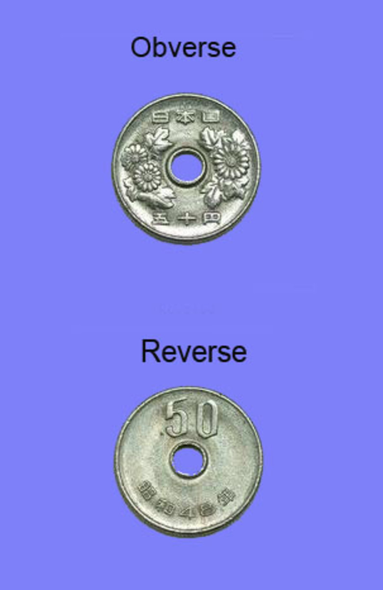 Japanese 50 Yen Coin