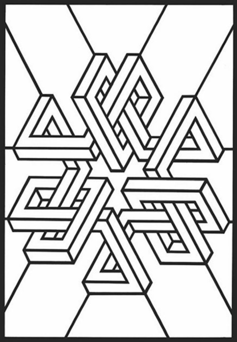 COLORING GEOMETRIC DESIGNS Free Coloring Pages