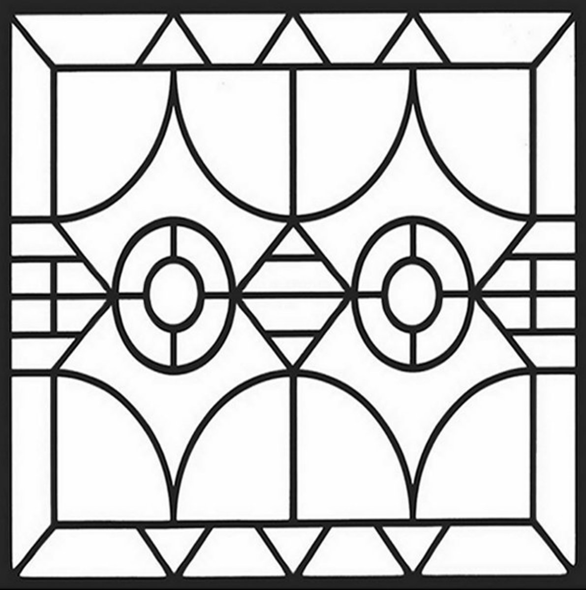 coloring pages geometric staind glass - photo#11