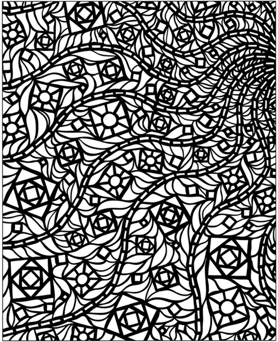 Geometric Design Colouring Pictures Stained Glass Colouring-Pages ...