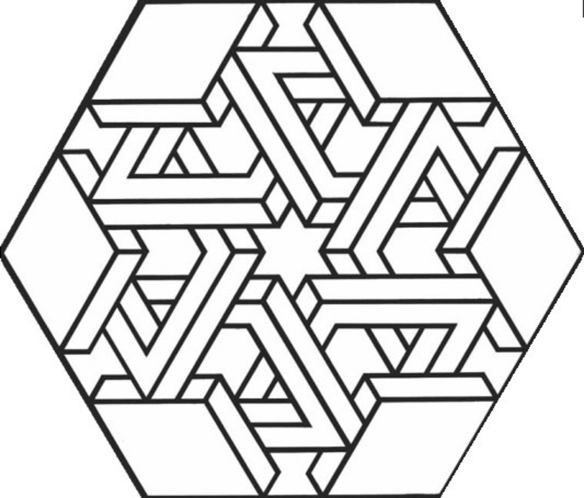 Geometric Design Coloring Pages and Stained Glass Colouring Pictures to Print - infinity blocked