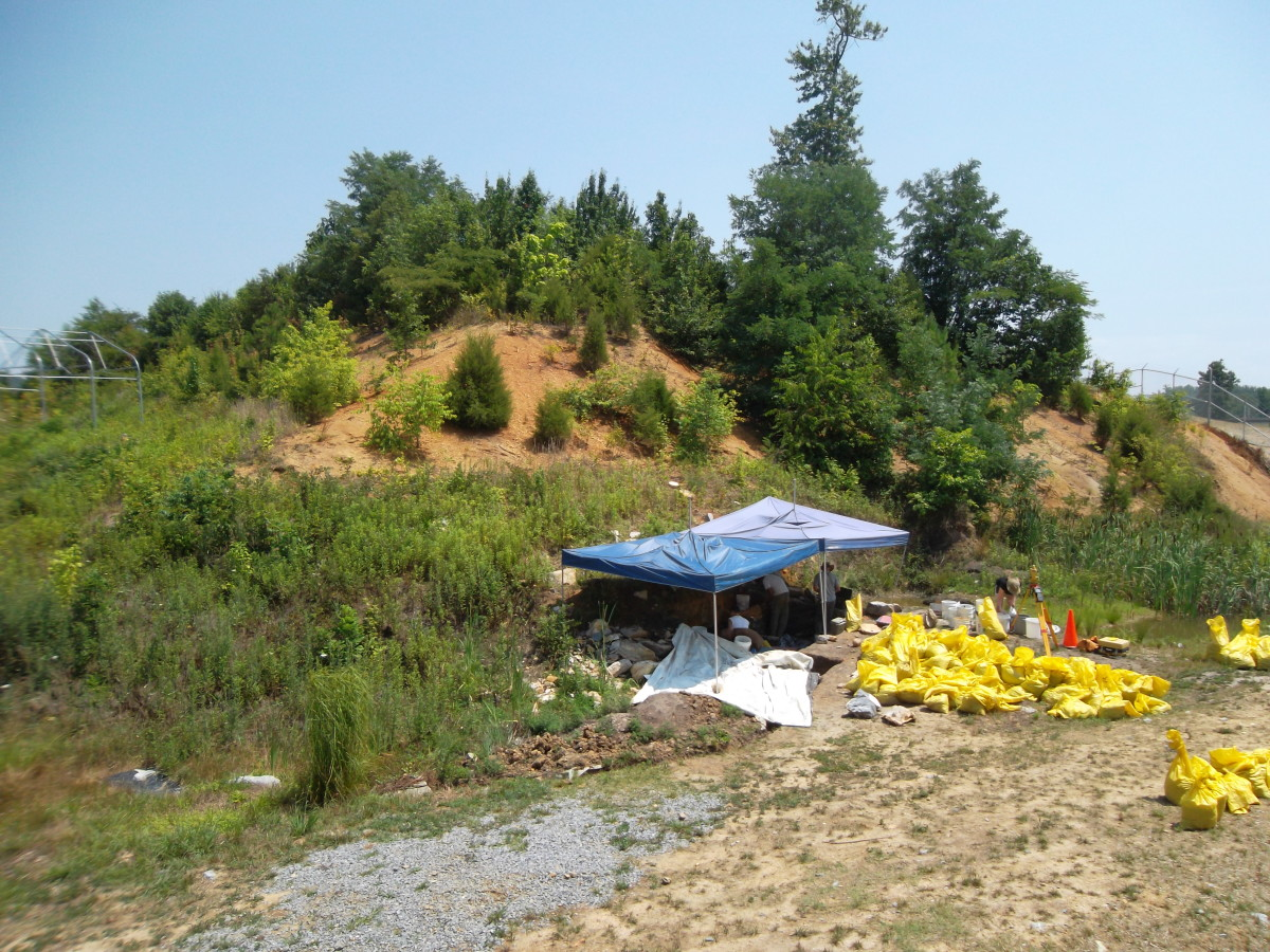 View of an active dig site in Tennessee.