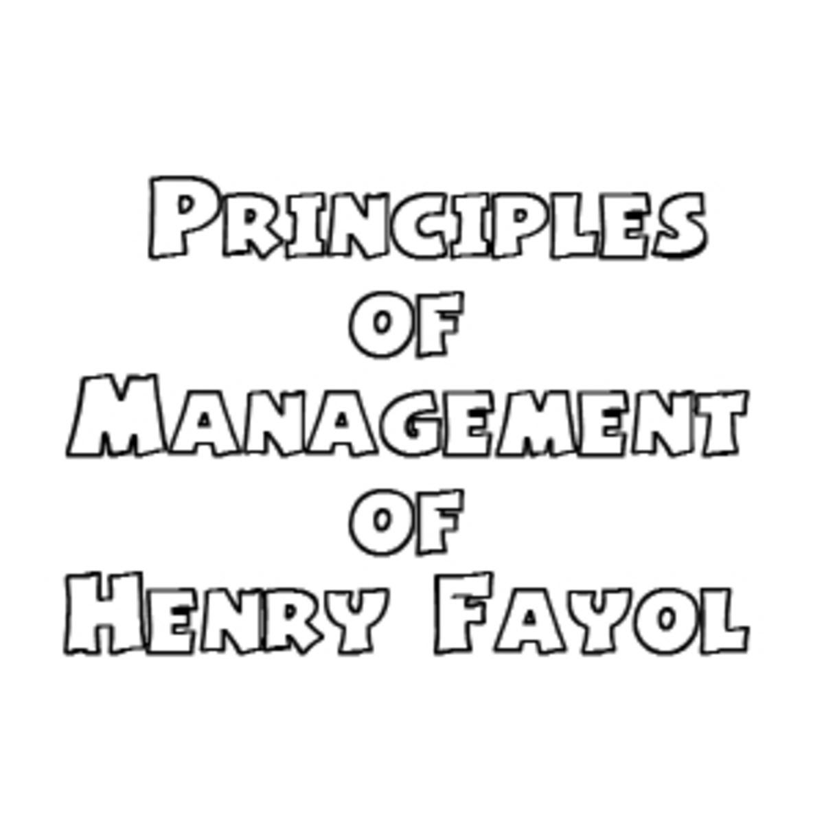 Henry Fayol 14 Principles of Management