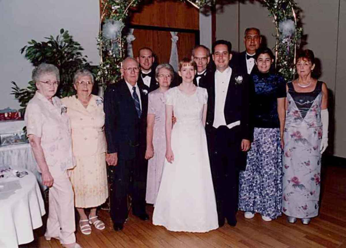 Family photo at my wedding