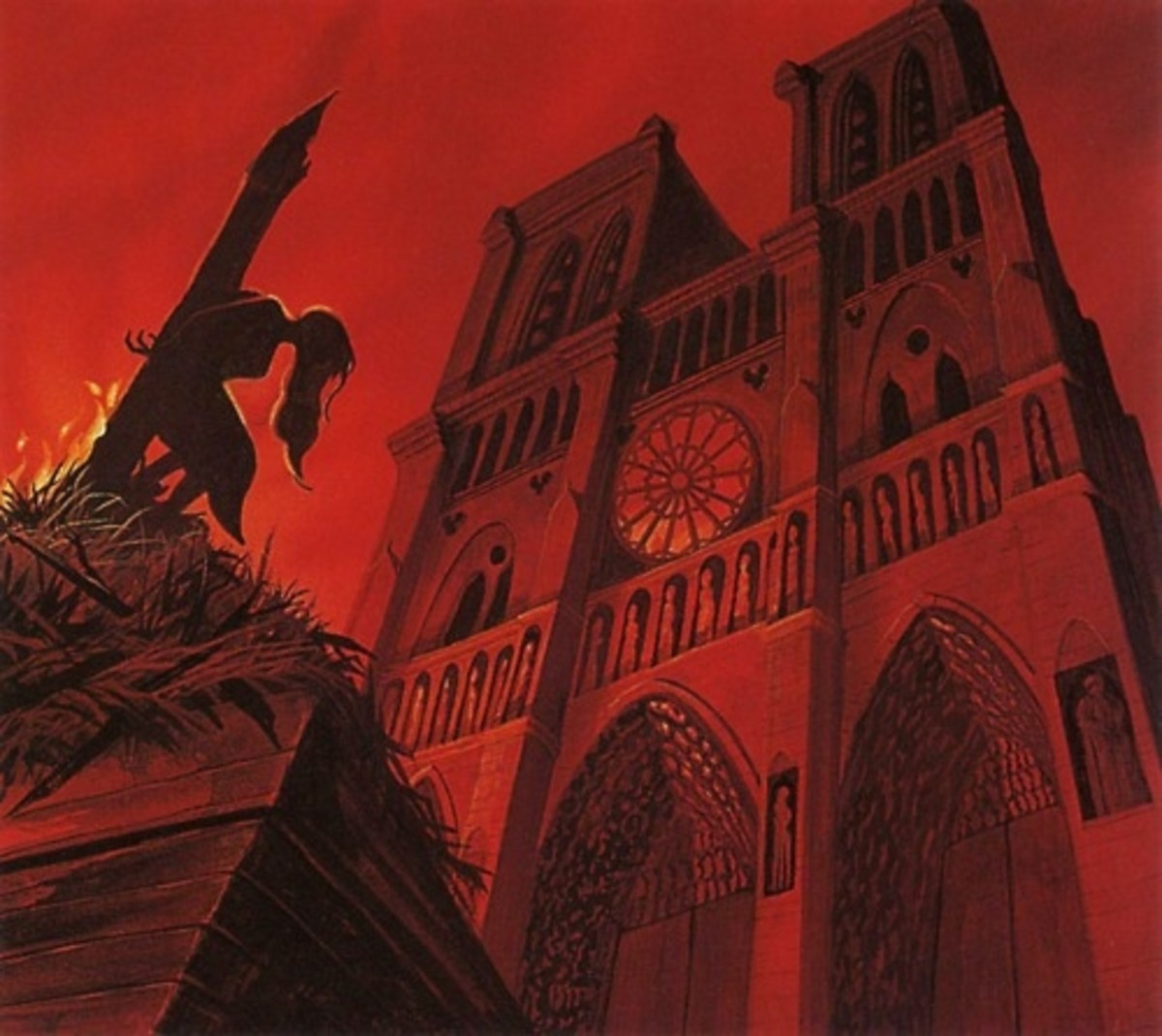 Concept Art of Esmeralda execution in front of Notre Dame