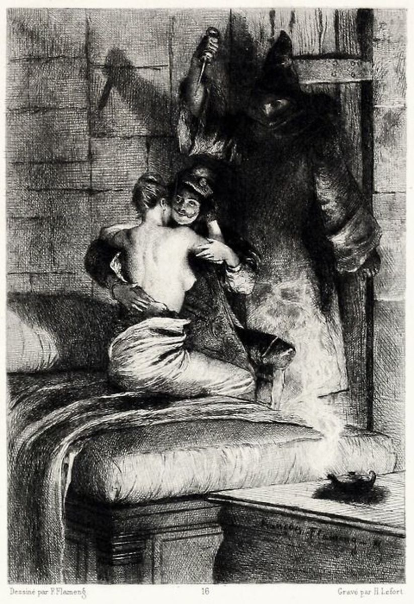 Frollo stabbing Phoebus Francois Flameng 1885