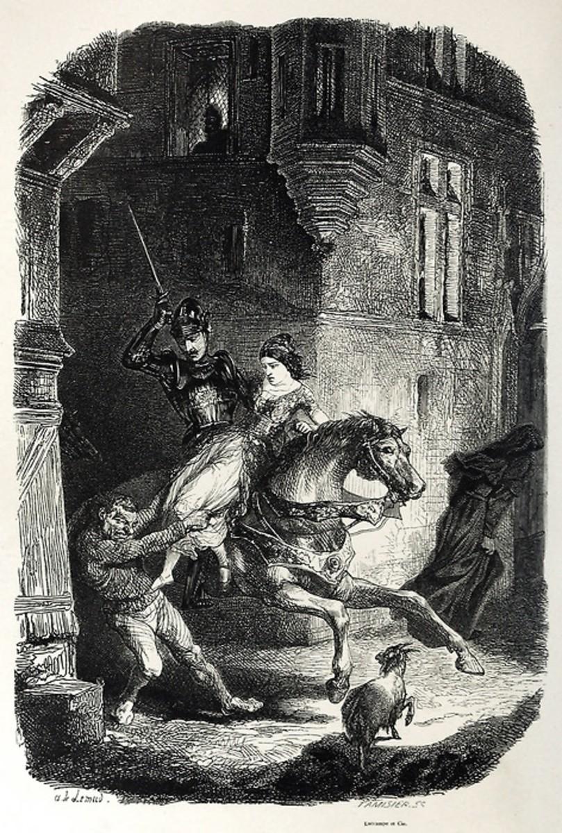 Phoebus saving Esmeralda from Quasimodo Aime de Lemud 1844