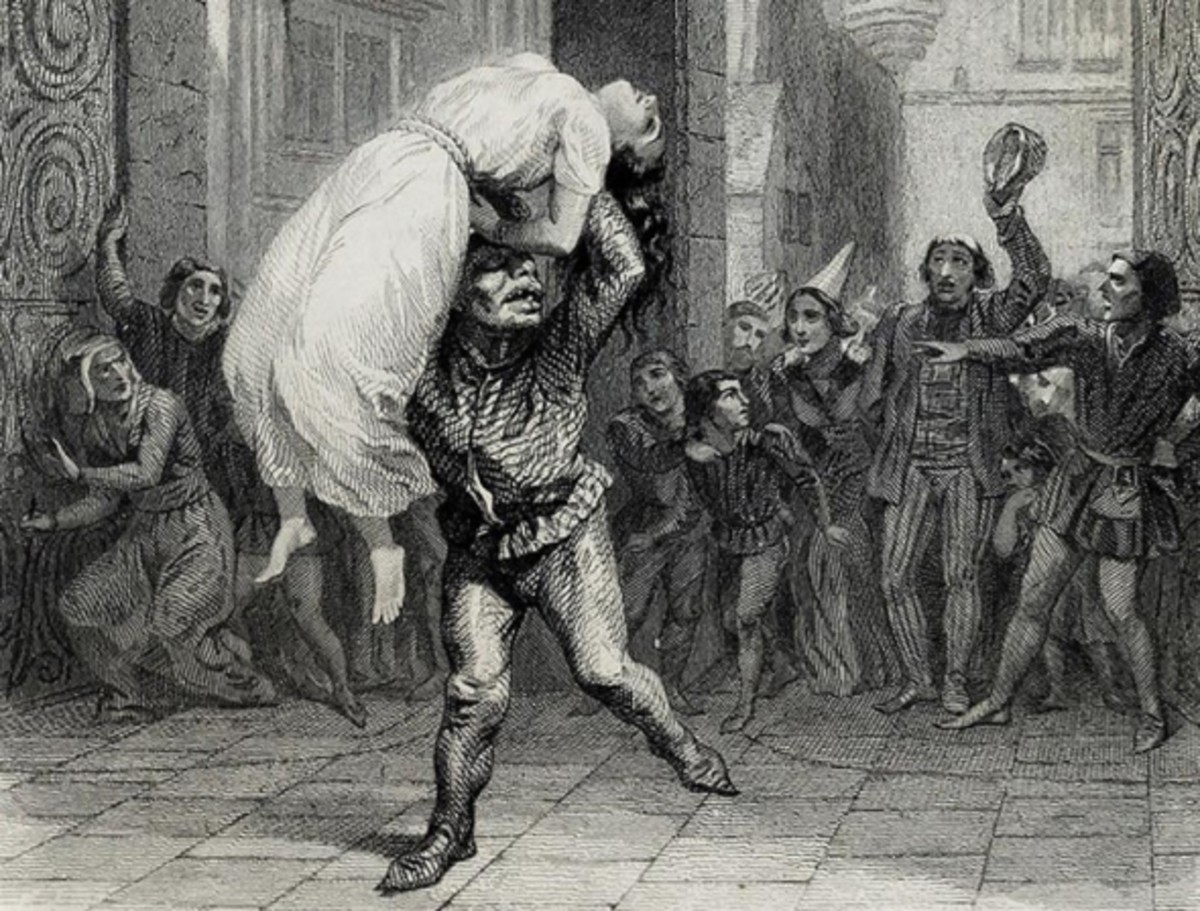 An Illustration of Quasimodo saving Esmeralda Aime de Lemud 1844