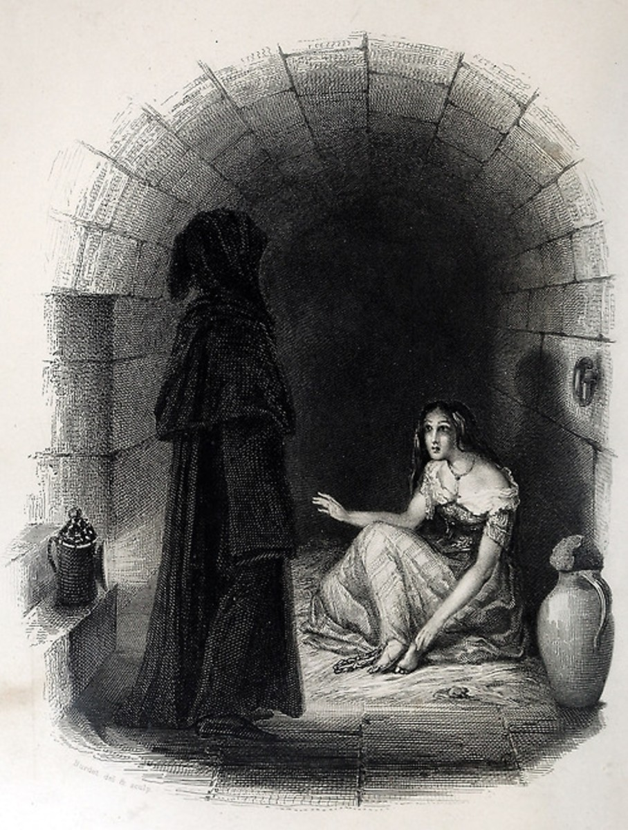 Esmeralda in the dungeon of La Tournelle Burdet