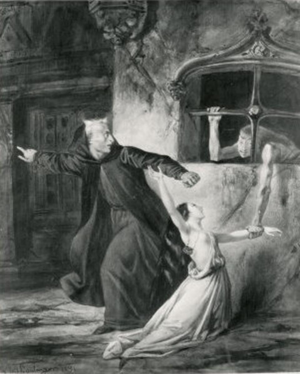 Frollo, Esmeralda, and Sister Gudule Louis Boulanger 1831