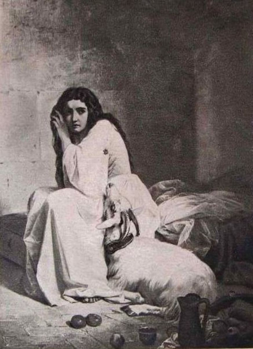 Esmeralda in Notre Dame Ferrari