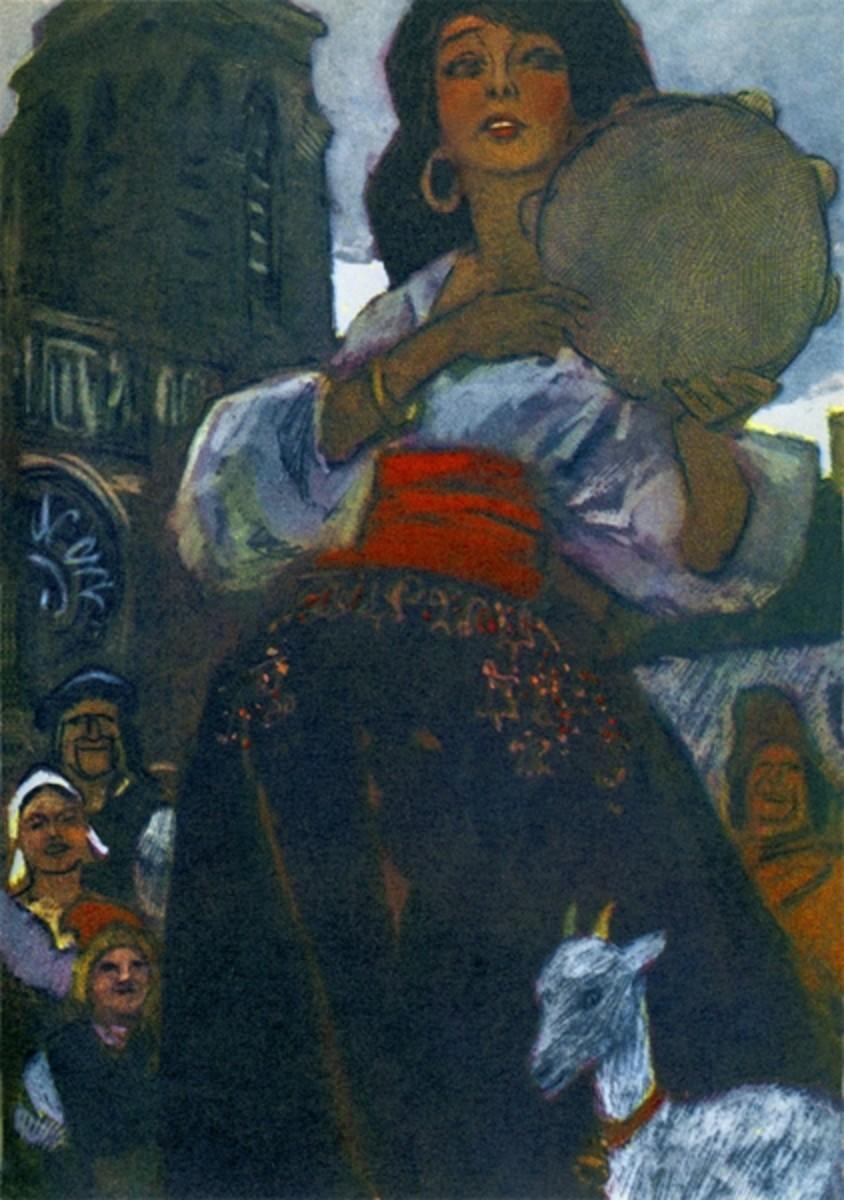 Esmeralda Illustration  by Pyotr Pinkisevich