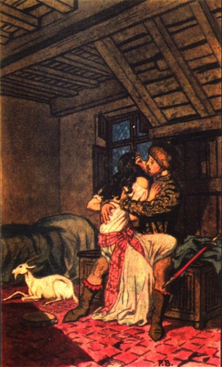 Colored Illustration of Phoebus and Esmeralda