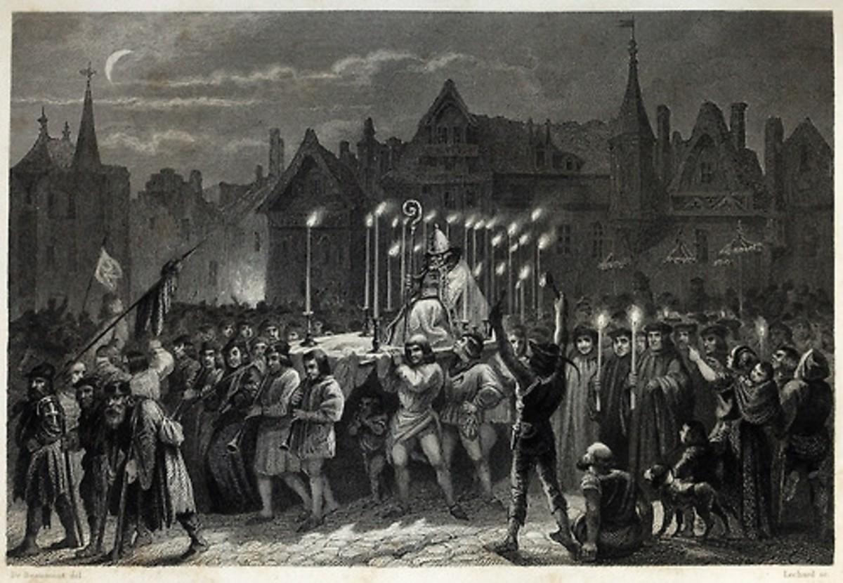 Quaismodo as the Pope of Fool Edouard de Beaumont 1844